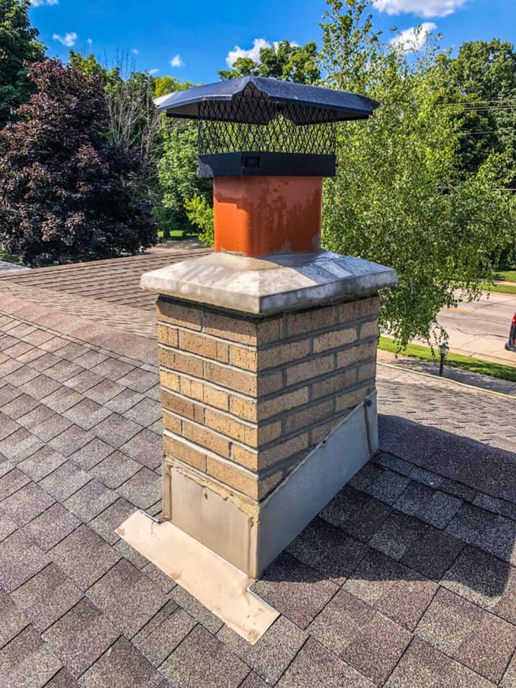 New prefab chimney crown