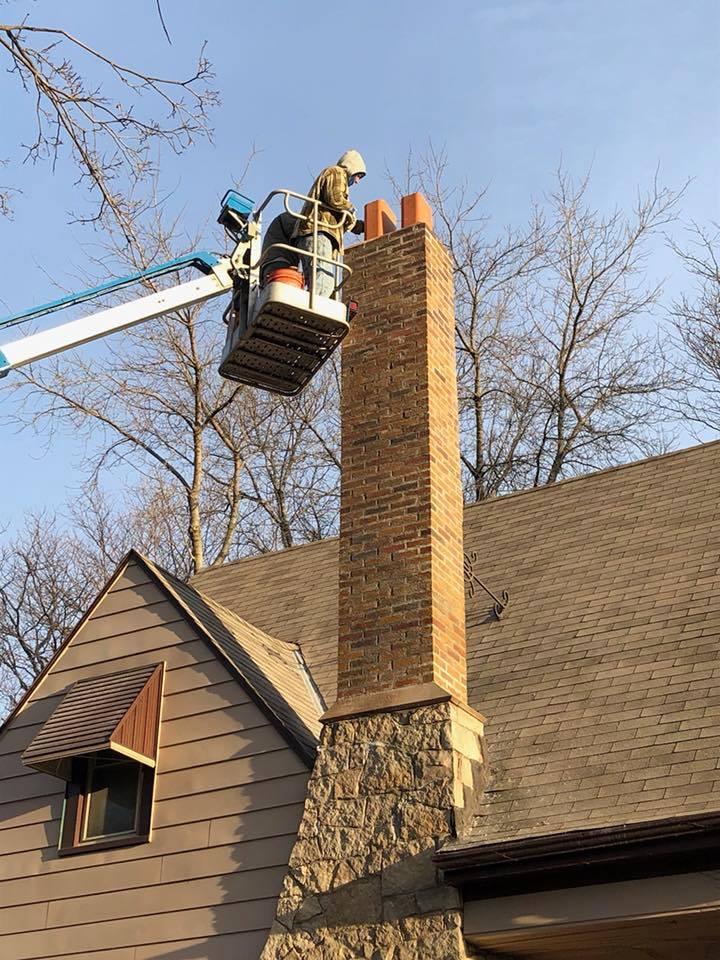 Chimney Boom Work