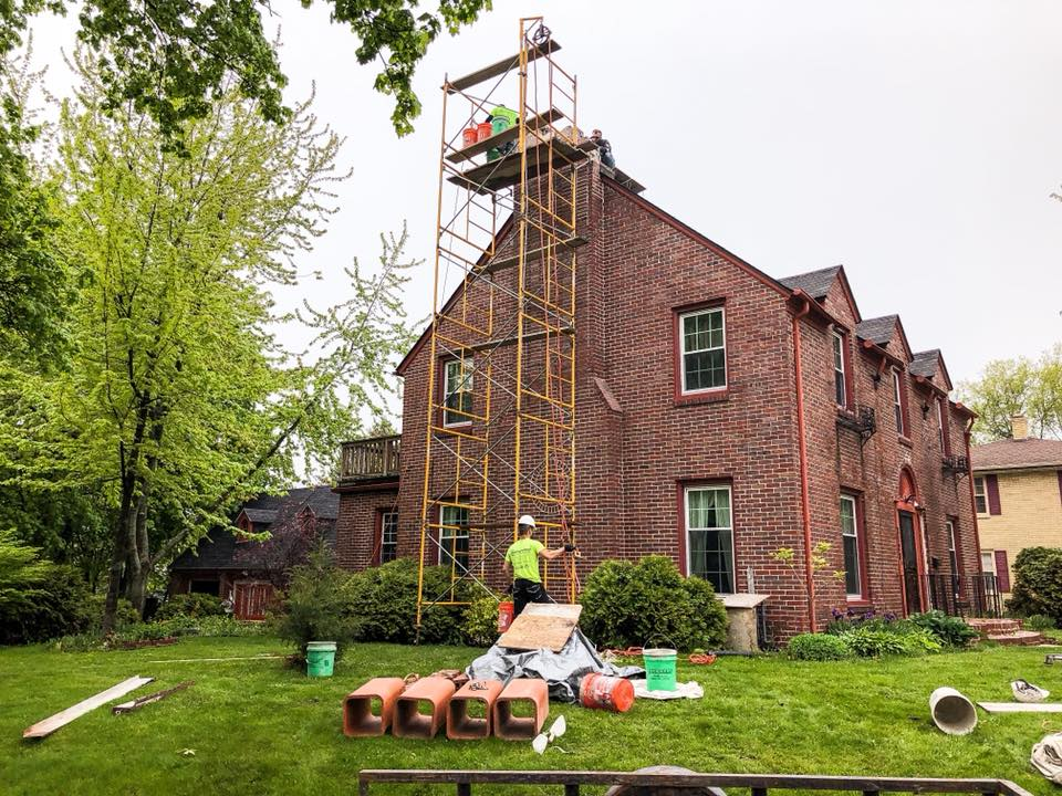 Chimney Repair and Crown Pour