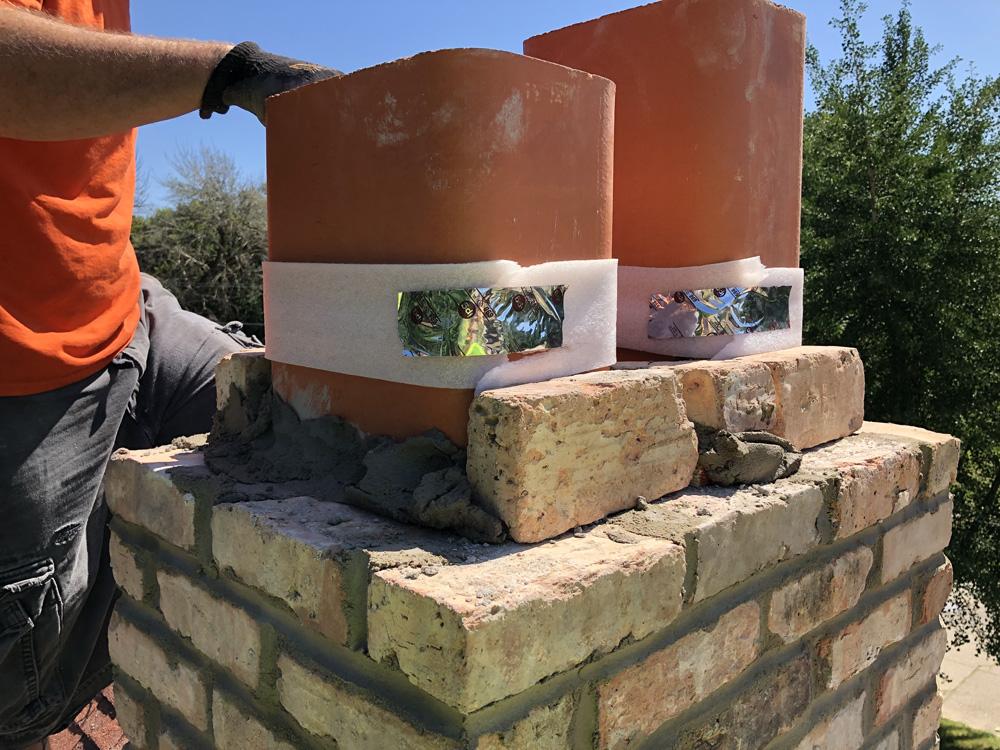 Chimney liner install