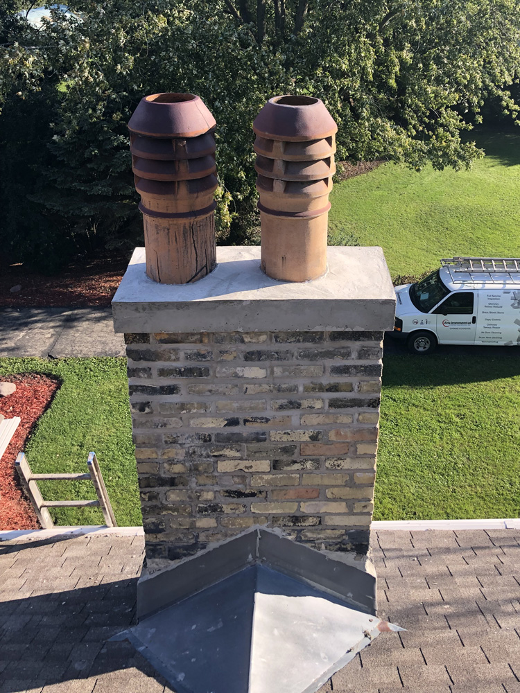 Duel stack chimney vents